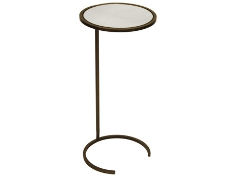 Worlds Away 12'' Wide Round End Table