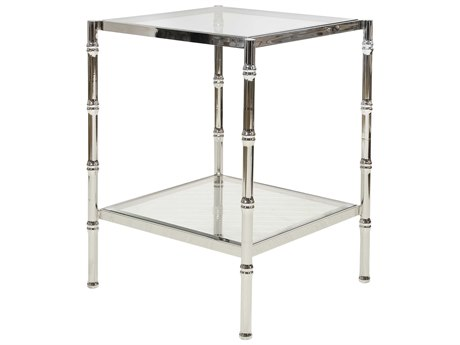 Worlds Away 20'' Wide Square End Table WASERENAN