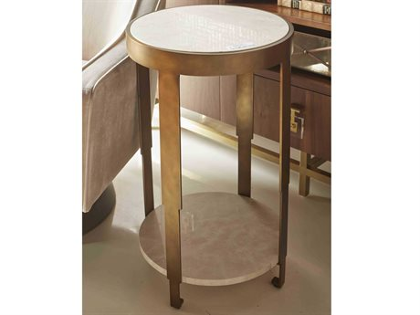 Worlds Away 18'' Wide Round End Table
