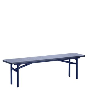 Woud Furniture Diagonal Midnight Blue Accent Bench WF101001