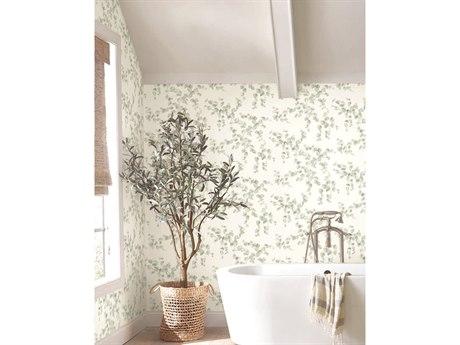 York Wallcoverings Outdoors In Blue Hydrangea Bloom