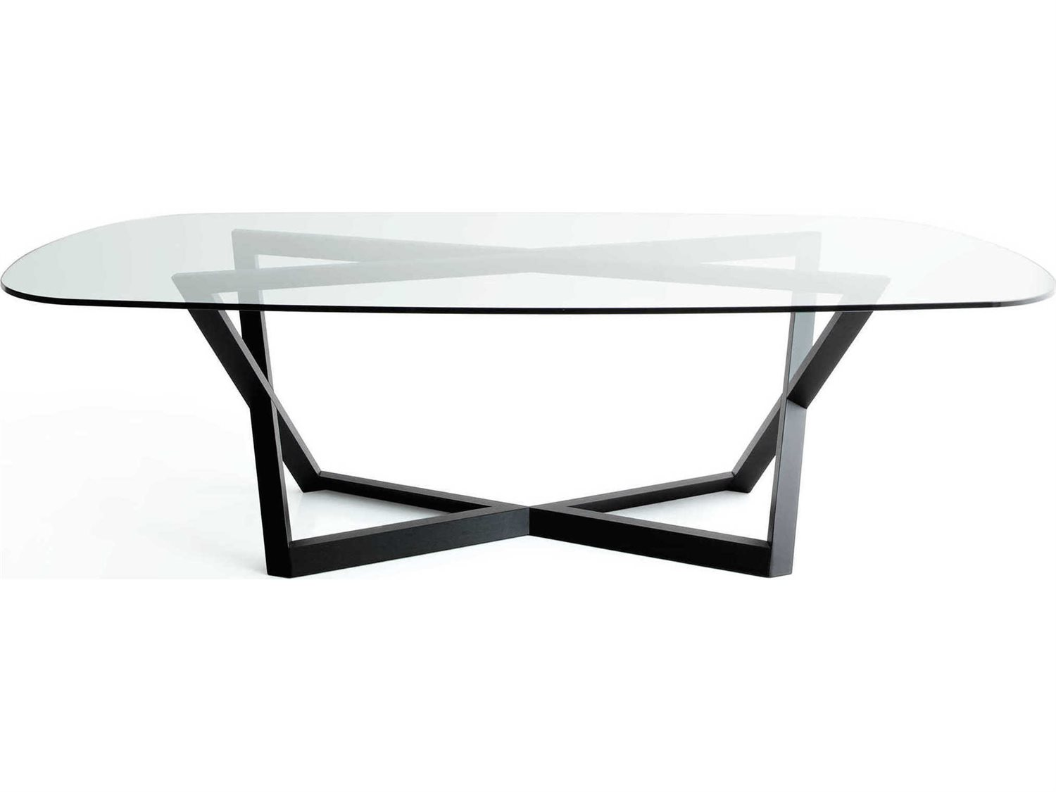 Picture of: Yumanmod Belfast Oak Base Glass Top Oval Dining Table Ymbr0102gt
