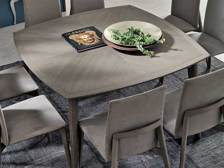 Yumanmod Bloom Ash-Grey Veneer 59.1'' x 59.1'' Square Dining Table YMTM010201