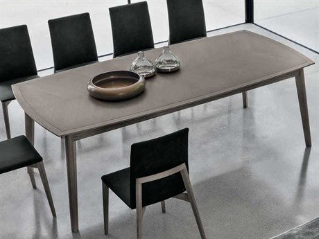 Yumanmod Bloom Ash-Grey Veneer 86.6'' x 43.3'' Rectangular Dining Table YMTM010202