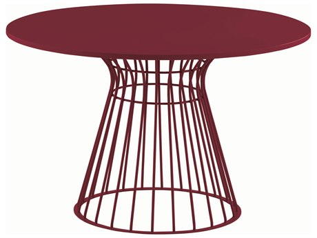 YumanMod Brigitte Red 47'' Wide Round Dining Table