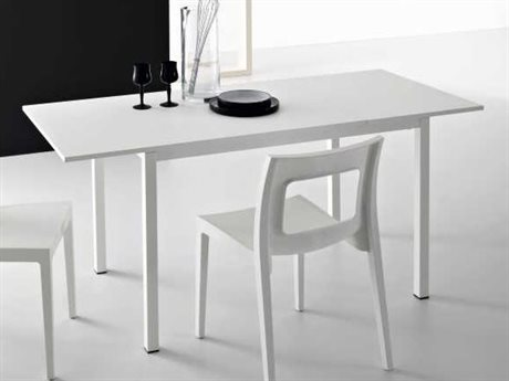 YumanMod Chic White Rectangular Extendable Dining Table YMSDP0102
