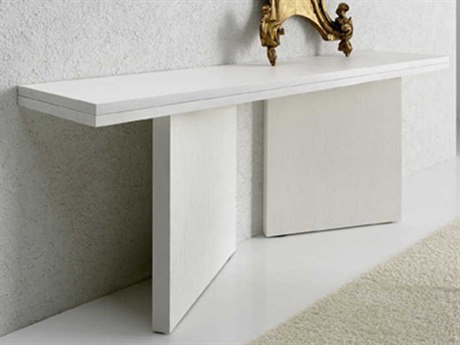 Yumanmod Clayton White Lacquered 78.7'' x 17.7 - 35.4'' Convertible Console to Dining Table