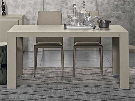 Yumanmod Doppio Passo Grey Open-Pore Lacquered 63'' - 110.2'' x 35.4'' Extendable Rectangular Dining Table YMTM010302