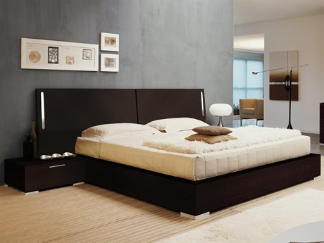YumanMod Enter Platform Bed with Nightstands and Lights