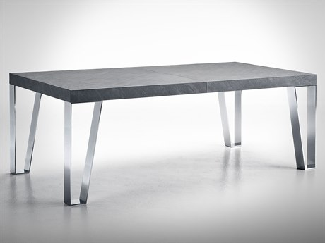 YumanMod Kyte Slate / Steel Rectangular Dining Table YMOR0104