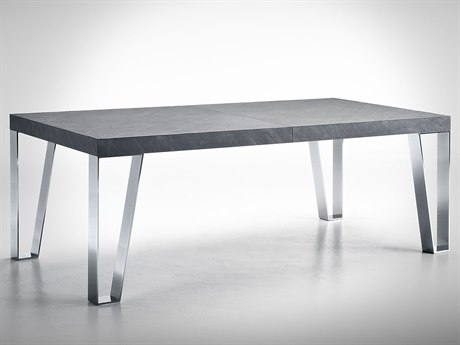 YumanMod Kyte Steel / Slate Rectangular Dining Table YMOR0105