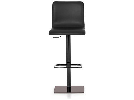 YumanMod Rest Black Chrome Side Adjustable Swivel Bar Height Stool YMPR030402
