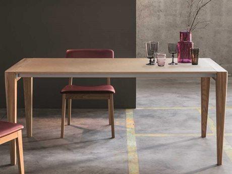 YumanMod Retro Natural Wood Rectangular Extendable Dining Table YMSD0107