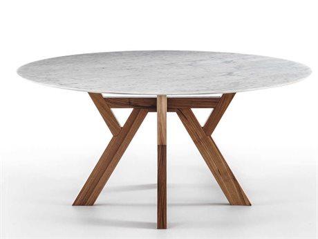Yumanmod Theodosia Walnut & Marble Round Dining Table YMBR0101MTW