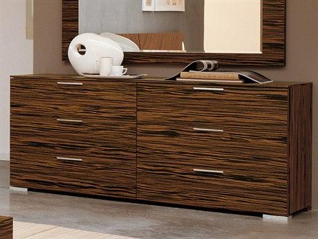 YumanMod Webb Ebony 6 Drawers Double Dresser