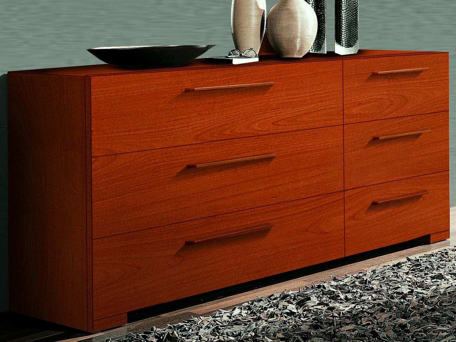 Yumanmod Wynd Cherry 6 Drawers Double Dresser Ymcr53524
