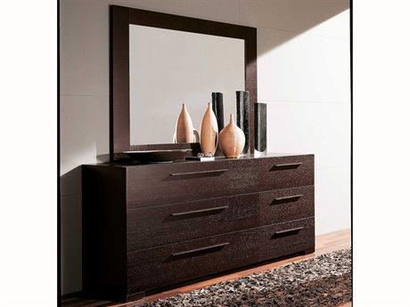 YumanMod Yoko Bis Wenge 6 Drawers Double Dresser with Mirror