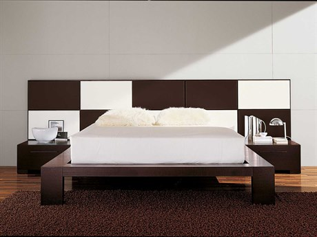 YumanMod Yoko Platform Bed with Nightstands YMCR65YCONF3