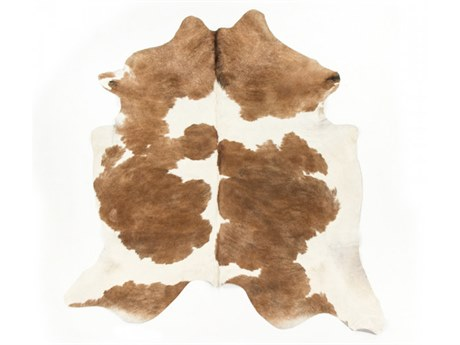 Zentique Brown / White Area Rug ZENCOWHIDEBRW