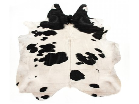 Zentique Black / White Area Rug ZENCOWHIDEBW