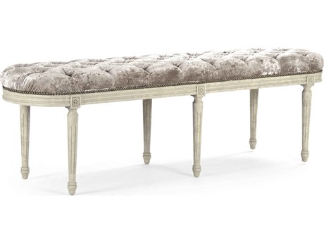 Zentique Distressed Ivory Accent Bench
