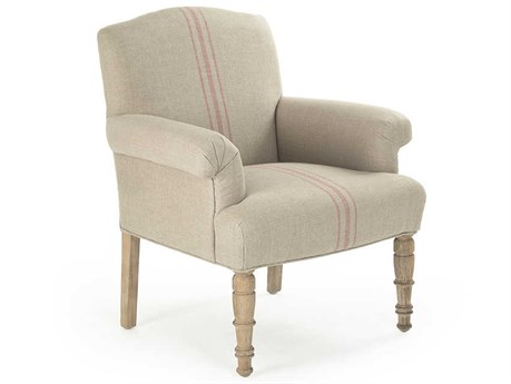 Zentique Limed Grey Oak Accent Chair ZENCFH132E272REDSTRIPE