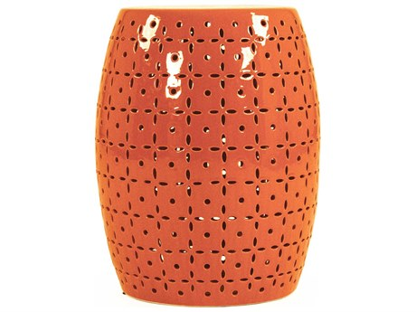 Zentique Accent Stool ZENJW150015ORANGE