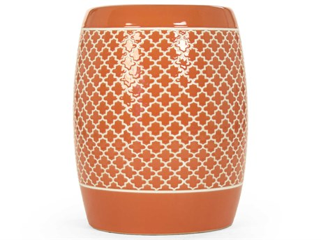 Zentique Accent Stool ZENJW160248ORANGE