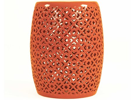 Zentique Accent Stool ZENJW161260ORANGE