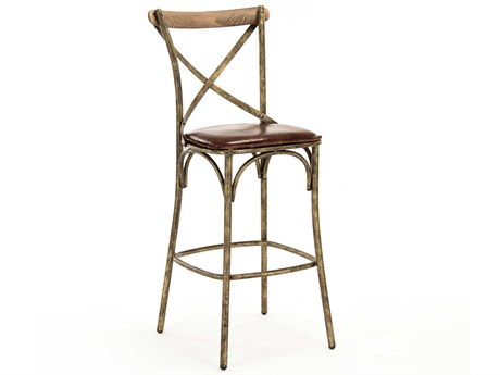 Zentique Side Bar Height Stool ZENPF31BARSTOOLBRONZE