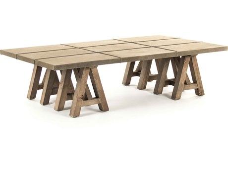 Zentique Dry Natural / Light Brown 63'' Wide Rectangular Coffee Table ZENHS119