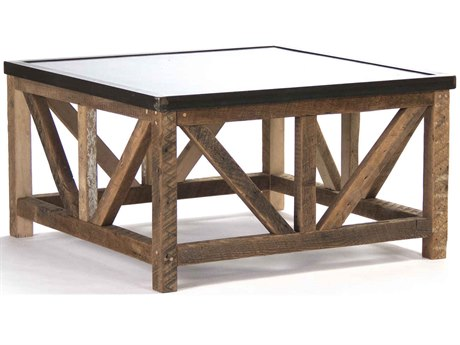 Zentique Copper / Brown 36'' Wide Square Coffee Table