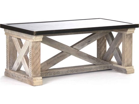 Zentique Rust / Copper finish sealed with lacquer 48'' Wide Rectangular Coffee Table