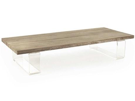 Zentique Limed Gray Oak 71'' Wide Rectangular Coffee Table ZENZMA001E272
