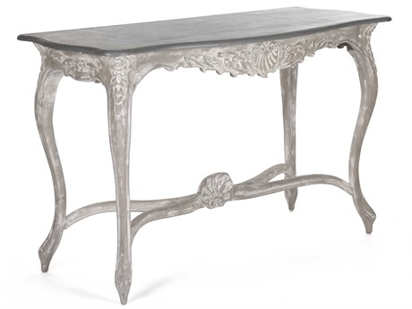 Zentique Distressed Grey 54'' Wide Rectangular Console Table