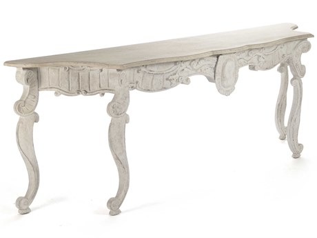 Zentique Natural / Distressed Off-White 73-101'' Wide Rectangular Console Table
