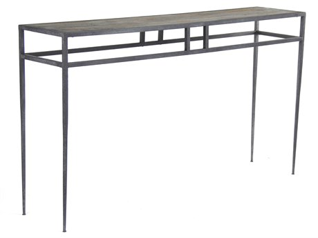 Zentique Distressed / Rustic 63'' Wide Rectangular Console Table