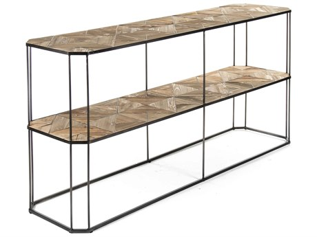Zentique Weathered Pine 71'' Wide Rectangular Console Table