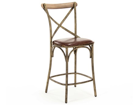 Zentique Side Counter Height Stool ZENPF31COUNTERSTOOLBRONZE