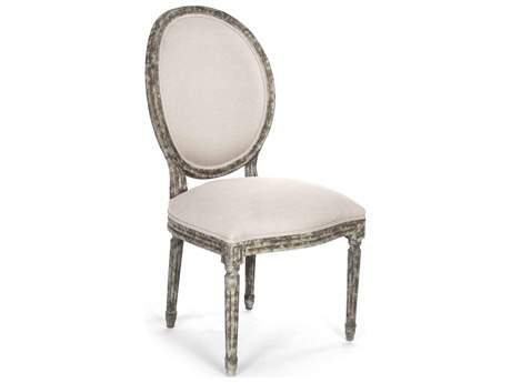 Zentique Distressed Olive Green Side Dining Chair