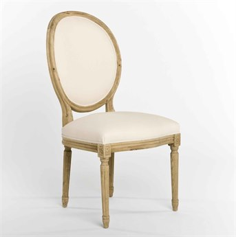 Zentique Off-White / Natural Side Dining Chair