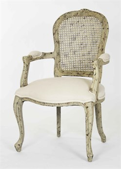 Zentique Distressed Olive Green Arm Dining Chair