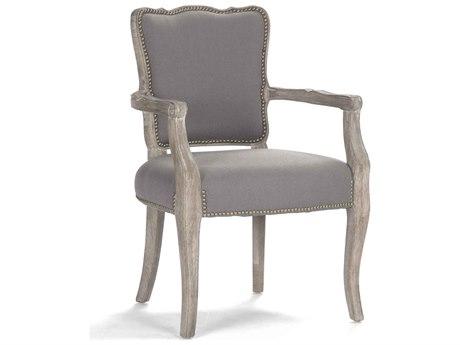 Zentique Limed Grey Oak Arm Dining Chair