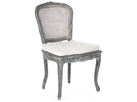 Zentique Side Dining Chair ZENLISH822191DISTRESSEDBLUE