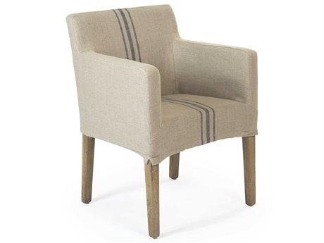 Zentique Limed Gray Oak Arm Dining Chair ZENXL2001E272A033