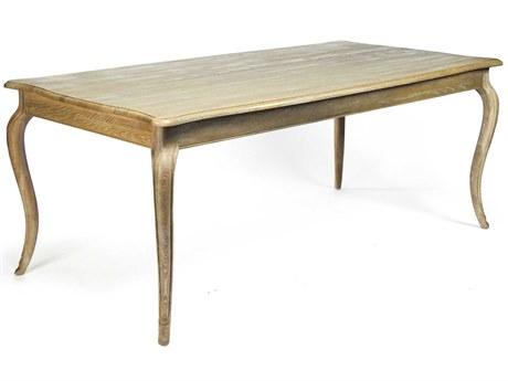 Zentique Limed Gray Oak 79'' Wide Rectangular Dining Table
