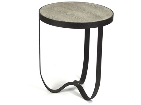 Zentique Burned White 19'' Wide Round End Table ZENHS072
