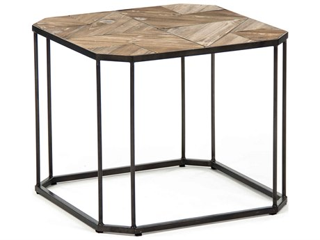 Zentique Weathered Pine 19'' Wide Octagon End Table