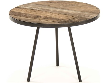 Zentique Weathered Elm 23'' Wide Round End Table ZENHS128