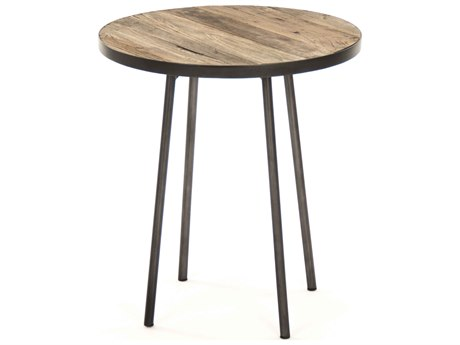 Zentique Weathered Elm 19'' Wide Round End Table ZENHS129